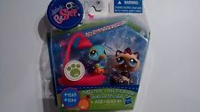 Littlest Pet Shop Blue Bird & Sparkle Himalayan Cat 2143 2144 Pretty Pairs