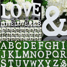 1Pc White Wooden 26 Alphabet Letters Wall Hanging Nursery Home Yard Decor Random