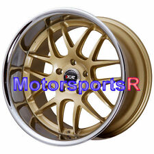XXR 526 Gold 20 20x9 +13 20x11 +11 Deep Dish Lip Wheels Rims Staggered 5x114.3