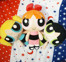 3PCS Powerpuff Girls Doll The 1999 Cartoon Network Plush Toy Kid's Gift 9""