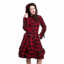 bnwt 'Alice Coat' Poizen Industries red Tartan cosy kaiwaii goth emo punk