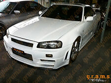 Nissan Skyline R34 Z-Tune Style CARBON FIBER Front Bumper BodyKit Performance v5