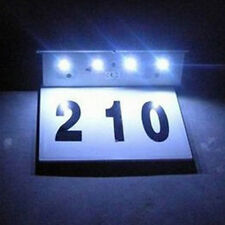 4LED Solar Power Door Plate Light Outdoor Wall Mounted House Address Number Lamp