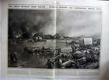 1915 Great Retreat From Poland, Russians Burning Countryside