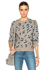 3.1 PHILLIP LIM LEOPARD JACQUARD SWEATER SMALL