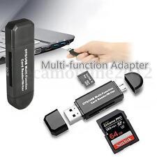 Micro USB OTG a USB 2.0 Adaptador Micro SD Memoria Tarjeta Lector Móvil Tableta