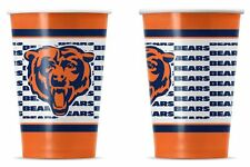 Chicago Bears Disposable Paper Cups - 20 Pack [NEW] NFL Party Tailgate