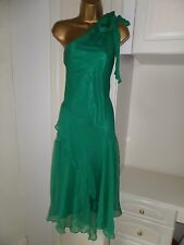 """GORGEOUS LINED 100% SILK OCCASION DRESS BY F&F IN VG CON SIZE UK 18 BUST 44"""""""