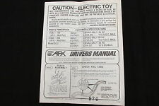 AURORA AFX DRIVER'S MANUAL ~ 1974 ~ 8 PAGES ~ VERY NICE COND ~ LOTS OF INFO!!