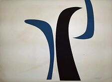 Cuban Art. SALVADOR CORRATGE. Serigraph Signed, Original Limited Edition. 1968.