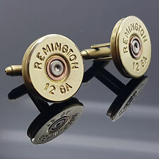 Reminton Shotgun Shell Cartridge Cap Cufflinks Clay Shooting Steampunk Birthdays