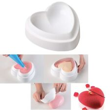 1PCS Silicone Heart Cake Mousse Mold DIY Chocolate Fondant Sugar Mould Tool