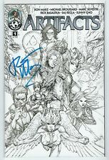 Artifacts #1 Sketch Cover Image Top Cow Universe Signed Ron Marz Midtown Comics