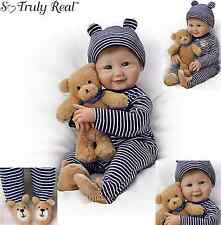 "Ashton Drake Doll ""Mommas Little Cub"" with free Plush Teddy Bear"