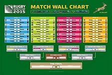 Rugby World Cup 2015 Wall Chart - Maxi Poster 91.5cm x 61cm (new & sealed)