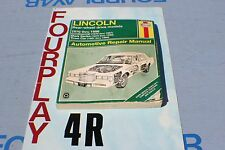 HAYNES -LINCOLN REAR WHEEL DRIVE MODELS -  1970-96 MANUAL