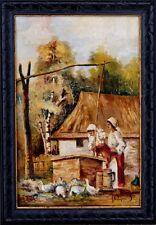 Wandbild Ungarischer Maler R. Pelinkeen *1925., Frauen am Brunnen xxx