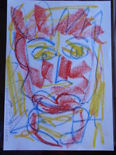 ROYSTON DU MAURIER-LEBEK ORIGINAL PORTRAIT SIGNED CRAYON DRAWING ON  PAPER X7