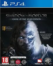 BRAND NEW Middle Earth Shadow of Mordor Game of the Year GOTY PS4 INDIAN STOCK