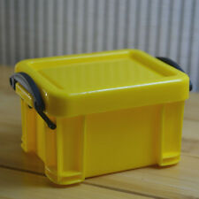 Practical Storage Box Case Container Organizer Plastic Mini with Lid Yellow