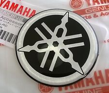 YAMAHA 100% GENUINE 50mm TUNING FORK BLACK/SILVER DECAL EMBLEM STICKER BADGE