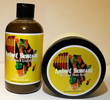 African Liquid Black Soap & Shea Butter Set
