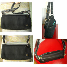 The SAK Petite Black Knit  Purse Shoulder Bag ~Just 11oz.~Perfect Condition~ZOOM