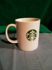 Starbucks Coffee Mug Tea Cup White Green Mermaid Siren Logo 12 fl oz/354ml