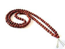 Tibetan 108 Natural 6.5X6mm Rudraksha Bodhi Seed Prayer Beads Mala Necklace -26""