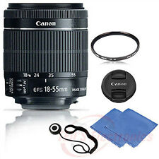 Canon EF-S 18-55mm STM Lens for Canon Digital Cameras + UV Filter, Cloth & Mor