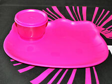 TUPPERWARE NEW HELLO KITTY PLATE AND SNACK CUP PINK BPA FREE SHIPPING