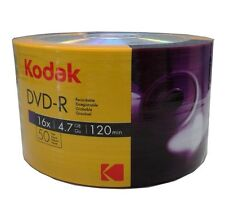 100-Pack Kodak 16X Logo Top Blank DVD-R DVDR Recordable Disc Media 4.7GB