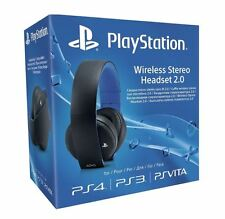 Oficial De Sony Playstation Ps4 Ps3 Ps Vita Wireless 7.1 estéreo headset2.0 (Negro)