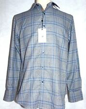 ROBERT GRAHAM LONDON EYE**SMALL**CLASSIC FIT*BLUE & GREY PATTERN**SALE PRICE
