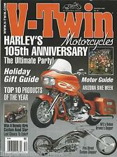 V Twin motorcycle magazine Harley Davidson Holiday gift guide Custom chopper NFL