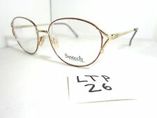 Vtg 80s SYSTECH 303 Eyeglass Frame c/30 Gold Purple Womens Metal (LTP-26)