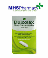 2 X  Dulcolax Laxative Suppositories 10mg - Fast Relief From Constipation - 12