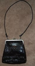 GUESS Dark Brown  CROSSOVER/SHOULDER BAG Purse  CROC