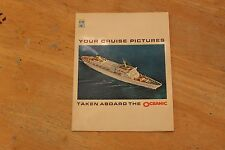 """""""Your cruise pictures taken aboard the oceanic"""" picture holder very good cond"""