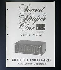 ADC SOUND SHAPER ONE Original Service-Manual/Service-Anleitung/Schaltplan!