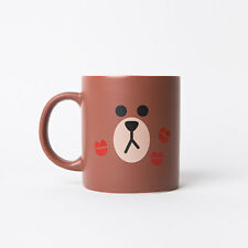 LINE Friends BROWN 'Two Face' Mug Cup Naver App Character Home Living Gift Decor
