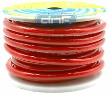 0 Gauge 100% OFC Red See Through Power Cable 25 Feet - FREE SAME DAY SHIPPING!
