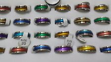 10 X Unisex Cat Eye Rainbow in acciaio inox FASHION Rings Lotti Anello all' ingrosso