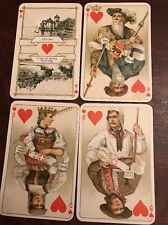 Antique Swiss B Dondorf Playing Cards No. 174 Frankfurt Whist A/M Swiss Costumes