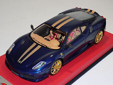 1/18 Looksmart MR Ferrari F430 Scuderia Blue Tour de France Gold Stripes Lim 25
