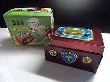 RAREJolie ancienne tirelire en tole Boite d'épargne Saving box pour enfant