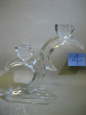 Unusual glass / crystal candle holder