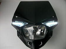New Black Ufo Led Motorcycle Headlight Enduro Ktm Exc Xr Crf Rmz Drz Yzf Kxf Dtr