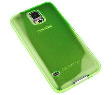 Schutzhülle f Samsung Galaxy S5 i9600 G900 Case Tasche Etui TPU Silikon grün