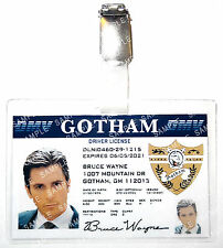 Batman Bruce Wayne Gotham Driving License ID Badge Cosplay Prop Costume Gift